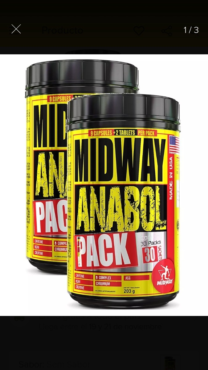 40724d6e8 anabol pack midway 30 packs. Cargando zoom.