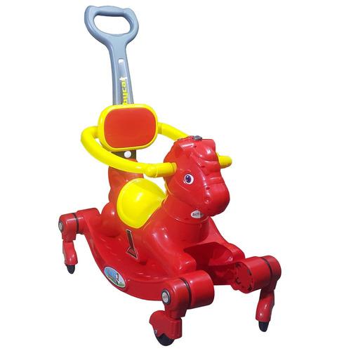 andador caballito mecedor musical con ruedas y manija - el r