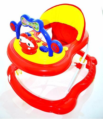 andador sapito 7 ruedas rojo