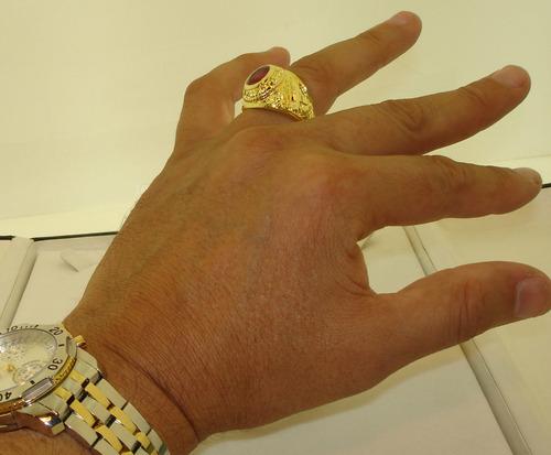 anel exercito força aéria usa ouro banho 18k