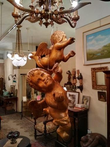 ángeles, figuras,esculturas,tallados en madera.coleccionable