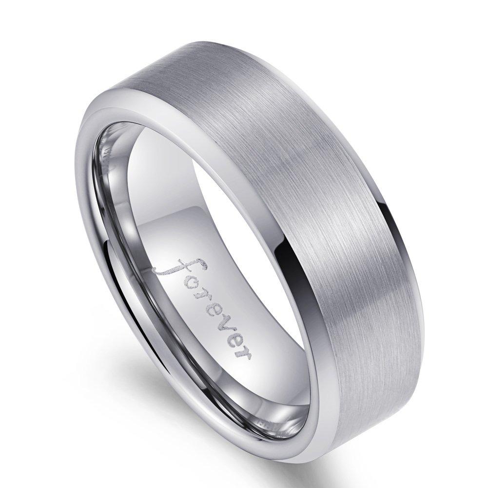c02b64120fb0 anillo de compromiso de carburo de tungsteno para hombres. Cargando zoom.