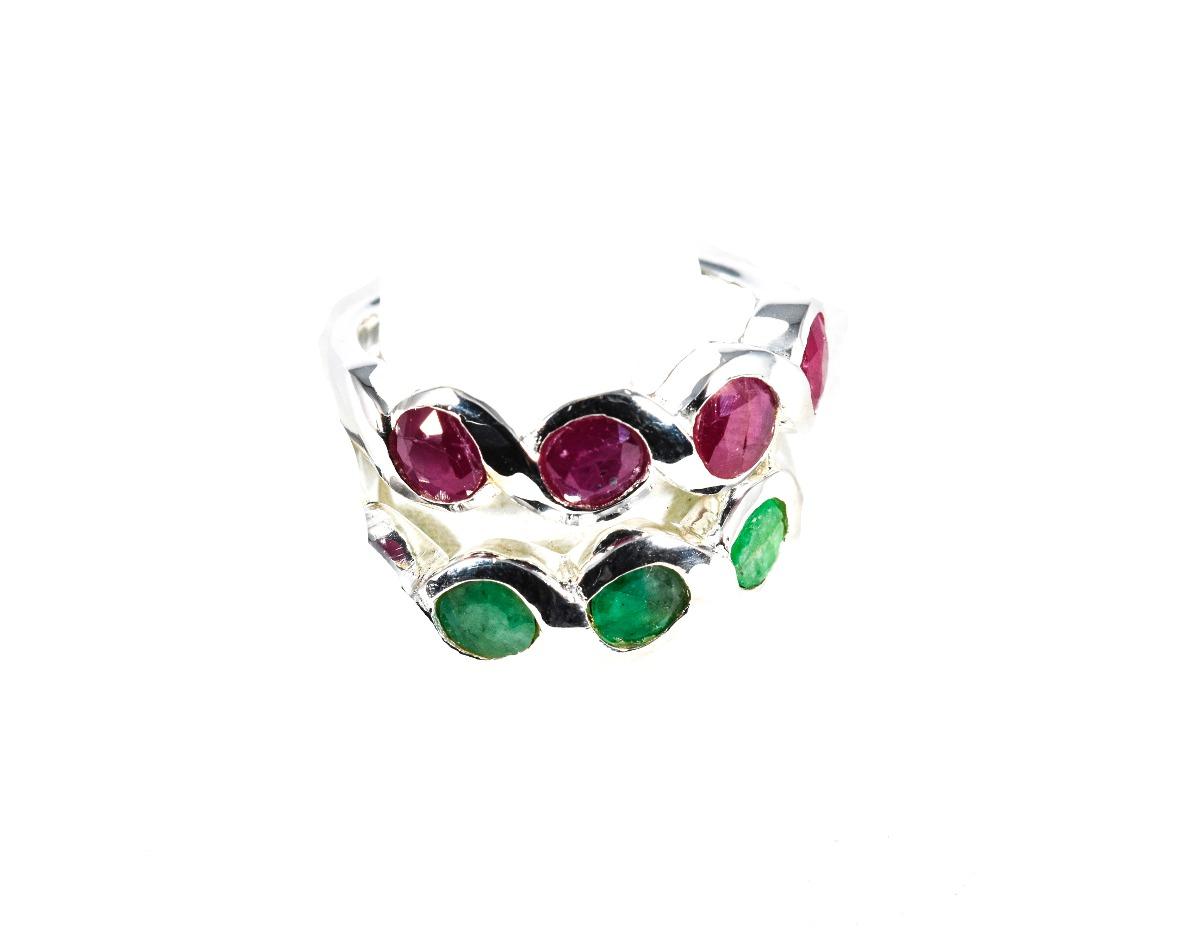 0b0b757fba5b anillo de plata 925 con raiz esmeralda y rubi guilad lpz02. Cargando zoom.
