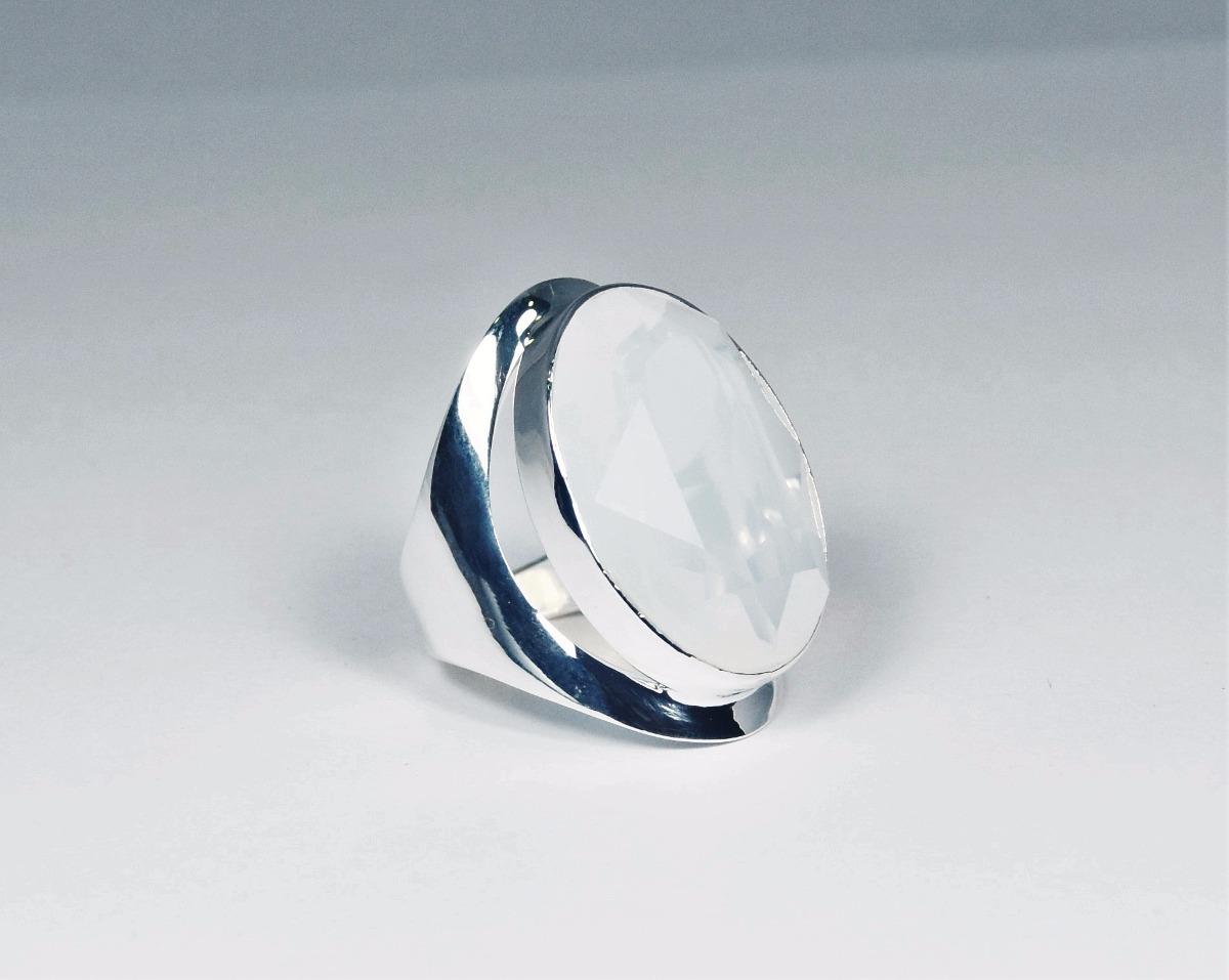 694a0b031679 anillo de plata con piedra de luna guilad joyas aft16. Cargando zoom.
