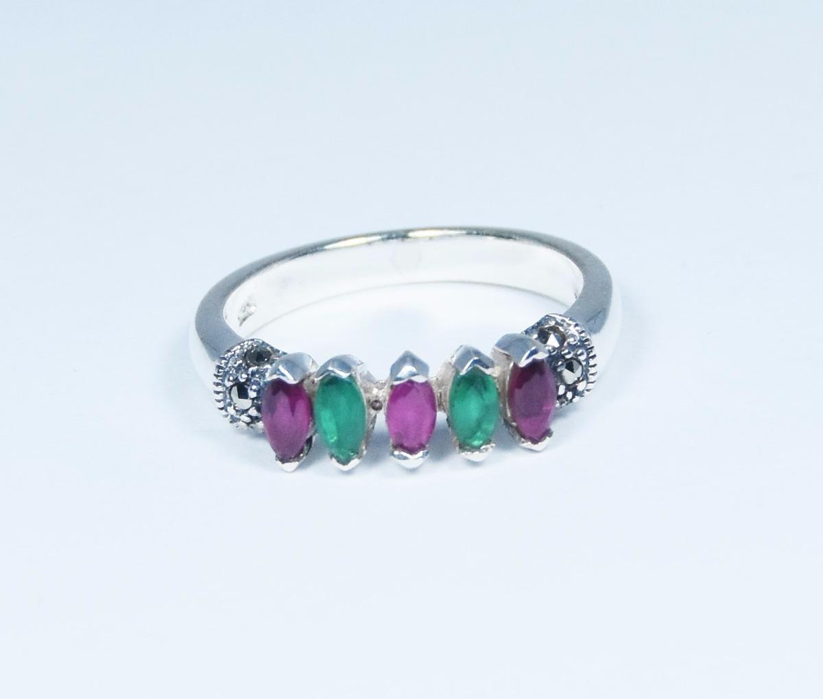 c1b7b83e5823 anillo de plata con piedras preciosas guilad joyas prc08. Cargando zoom.