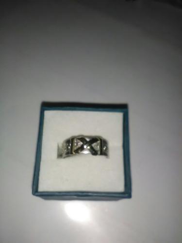 anillo de plata labrada con apliques en oro