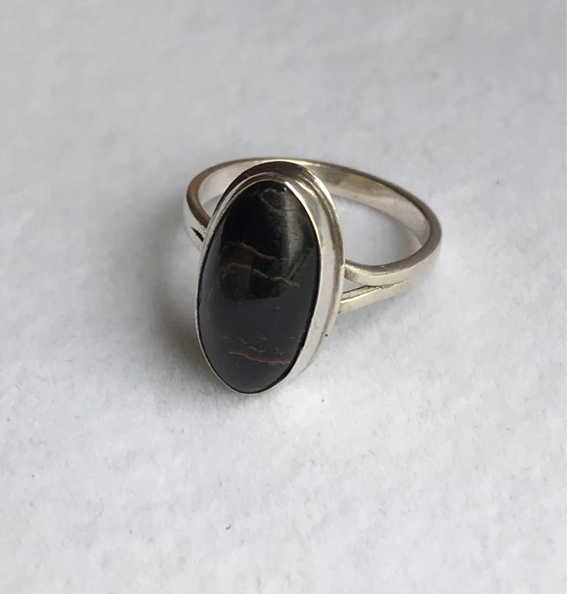 código promocional 9c5d4 1797b Anillo En Plata Con Obsidiana Negra - $ 580,00