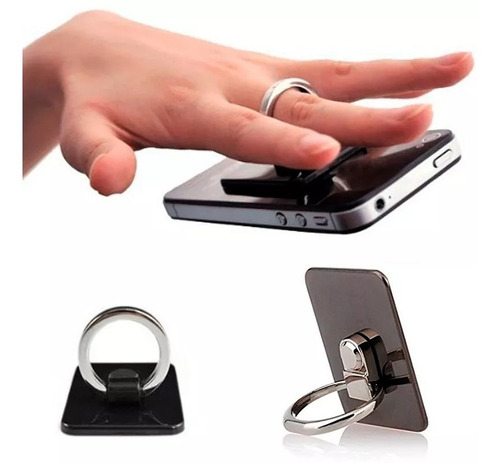 anillo metal y soporte gps celulares tablet anti robo colore