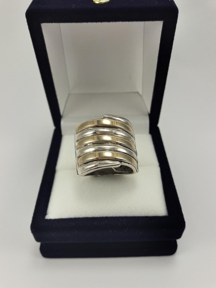 7cc26c43ff55 anillo mujer en plata y triple doublé en oro. Cargando zoom.