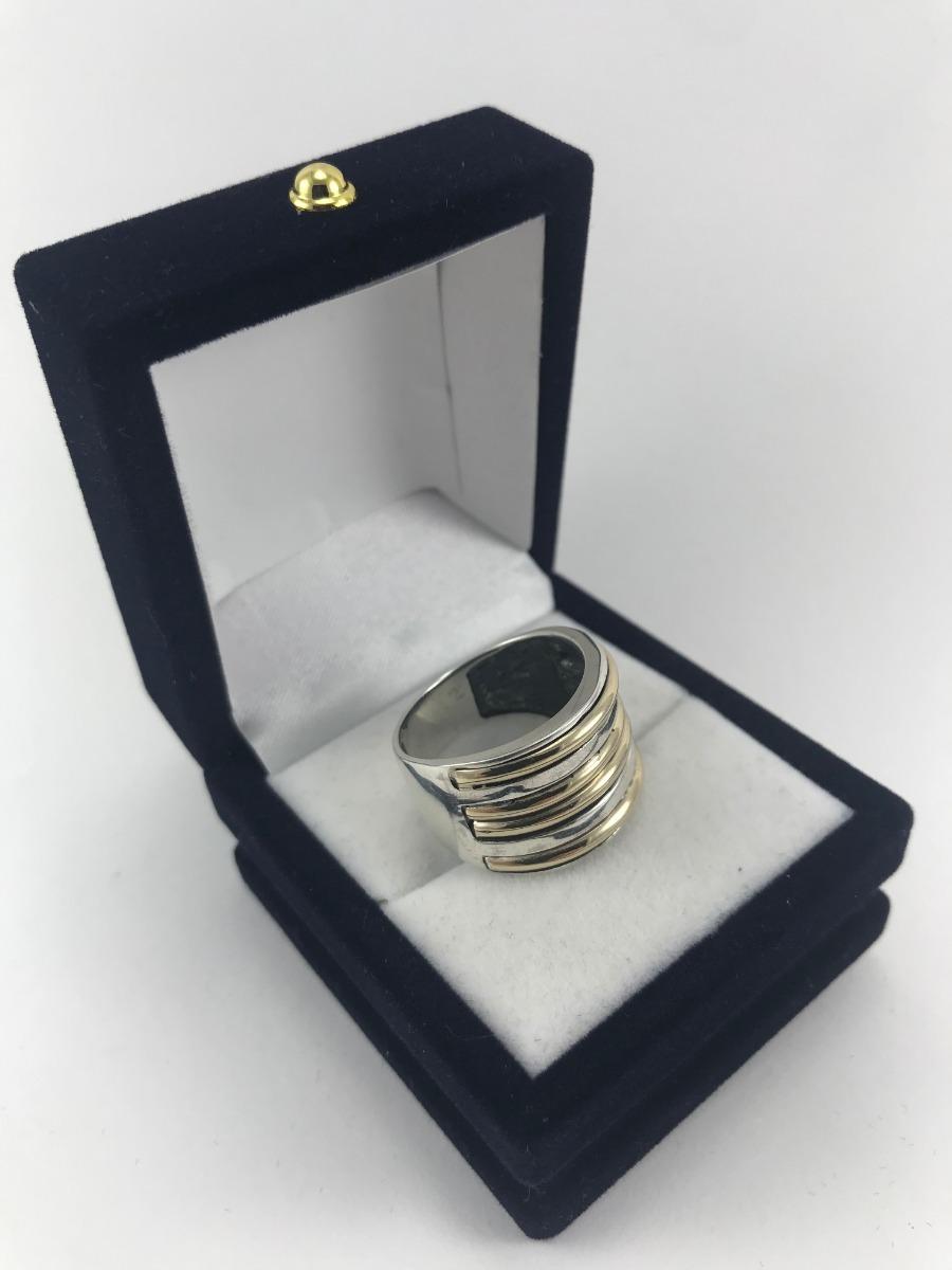 e3fac636b161 anillo mujer plata 900 y oro triple double  doble double. Cargando zoom.