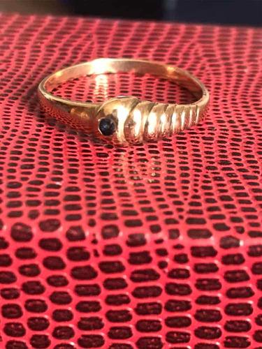 anillo oro 18 y zafiro rebajado por esta semana!