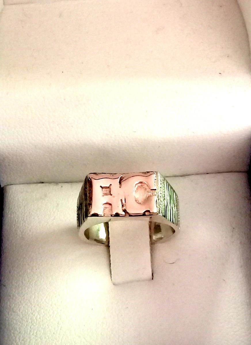 816c7ccdbb1f Cargando zoom... anillo sello en plata con iniciales en oro ...