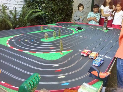 animación infantil,adultos,pista de automovilismo en tu casa