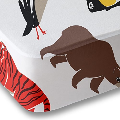 Animal Impresión Cuna Hoja Para Niños Y Niñas - Doble Cepil ...