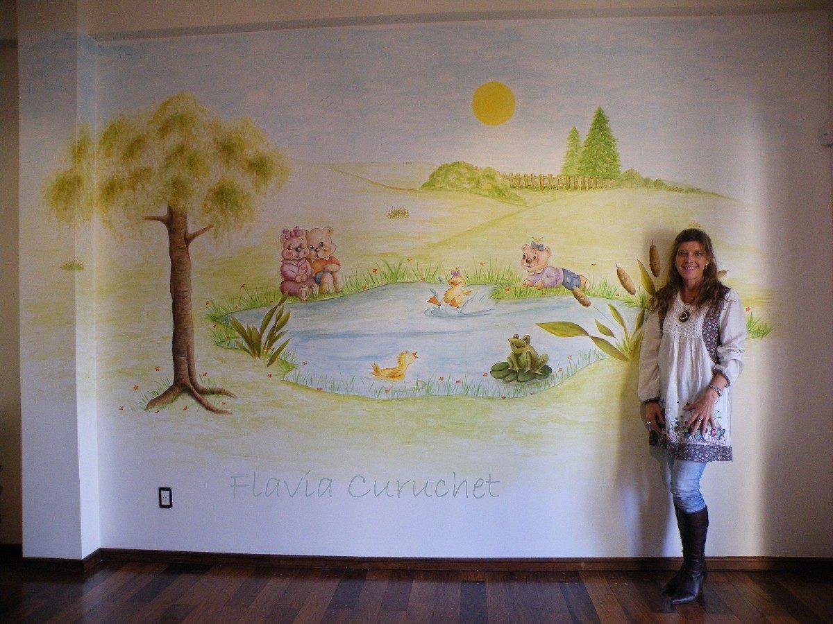 Animate A Pintar Murales En Las Paredes 4 000 00 En Mercado Libre