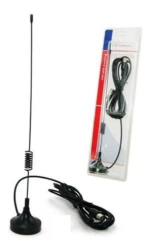 antena interior  para tv digital isdb -t uhf base imantada