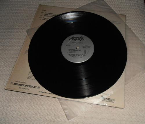 anthrax - fistful of metal (vinilo 1ra. ed. u s a 1984)