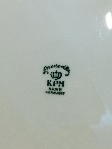 antigo prato de bolo kpm - germany - anos 30/40