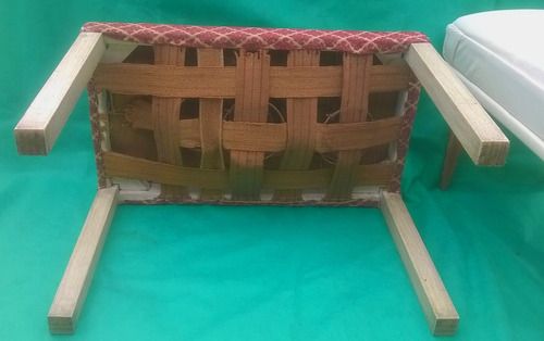 antigua banqueta tapizada estilo ingles