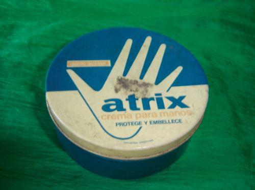 antigua cajita de crema para manos atrix