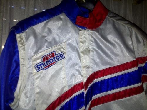 antigua campera de rally motos años 80