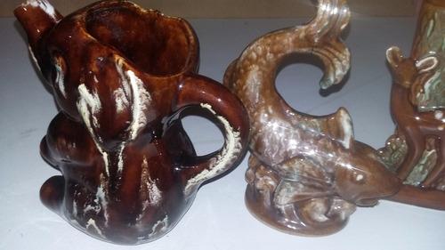 antigua ceramica esmaltada impecables el lote o de a 1