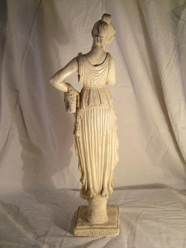 antigua figura de yeso 47 cm
