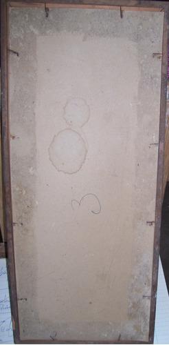 antigua  lamina sobre carton