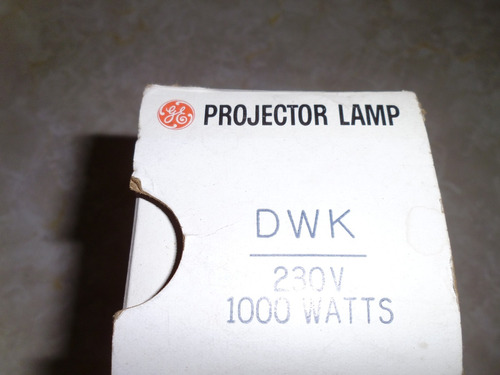 antigua lampara de proyector de 1000 w general electric