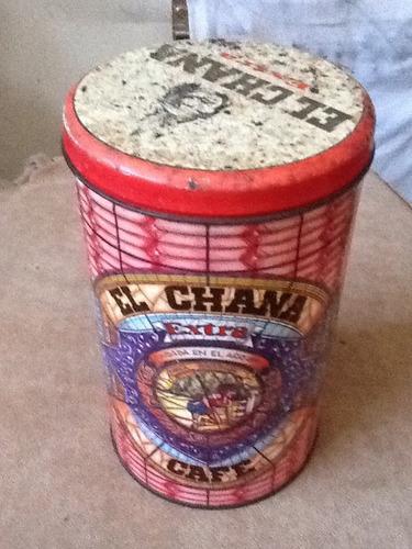 antigua lata cafe el chana en muy buen estado