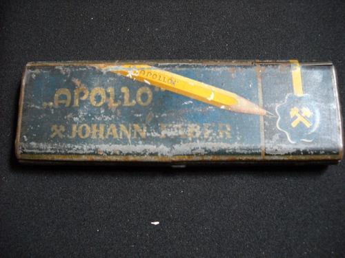 antigua lata litografiada johann faber apollo alemania