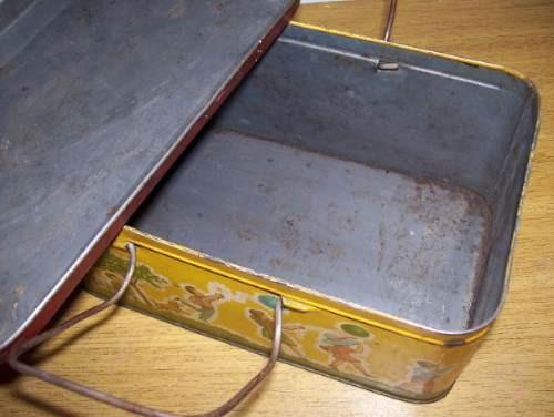 antigua loncherita de lata litografiada
