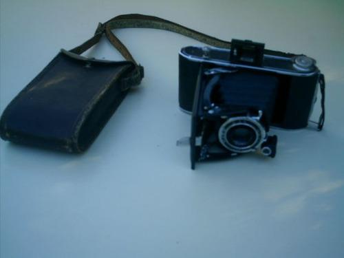 antigua maquina de fotos agfa-de fuelle-con estuche-unica !!