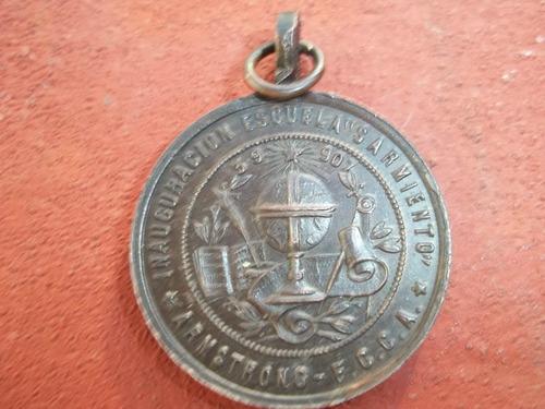 antigua medalla de bronce