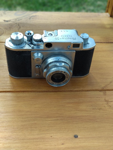 antigua minolta camara fotografica