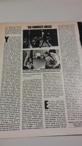 antigua nota de revista de julio bocca