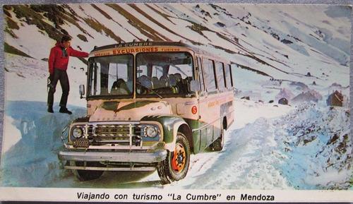 antigua postal de omnibus la cumbre argentina
