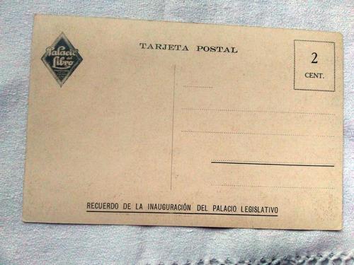 antigua postal montevideo  inauguracion palacio legislativo