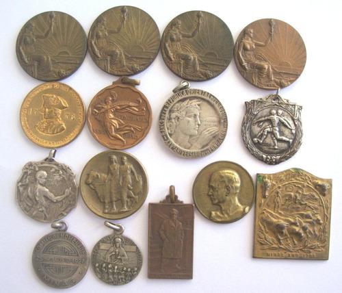 antiguas medallas x lote de 15