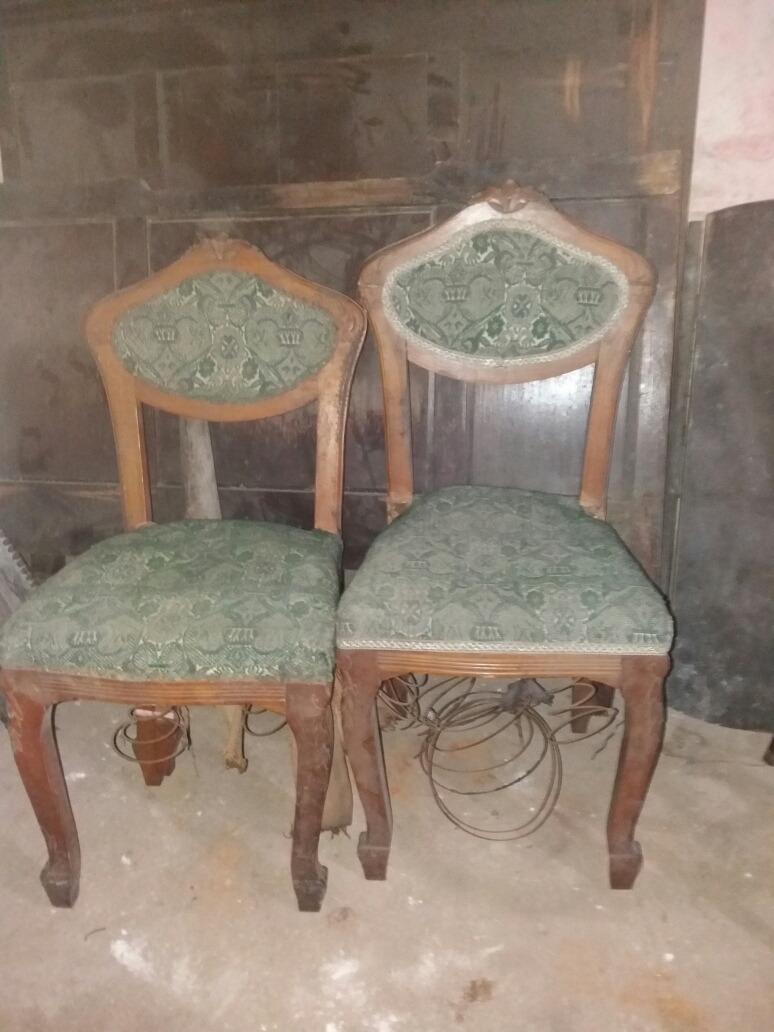 Antiguas sillas francesas en pino para restaurar - Restaurar sillas antiguas ...