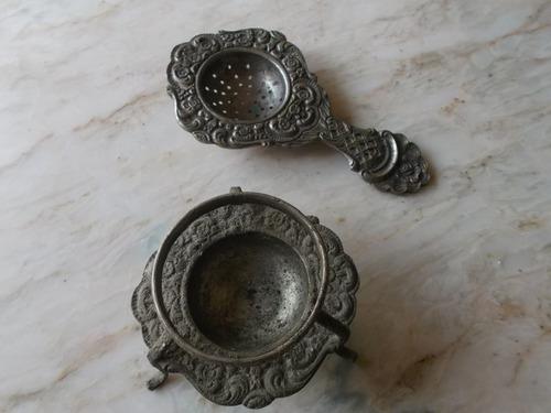 antigüedad colador de te