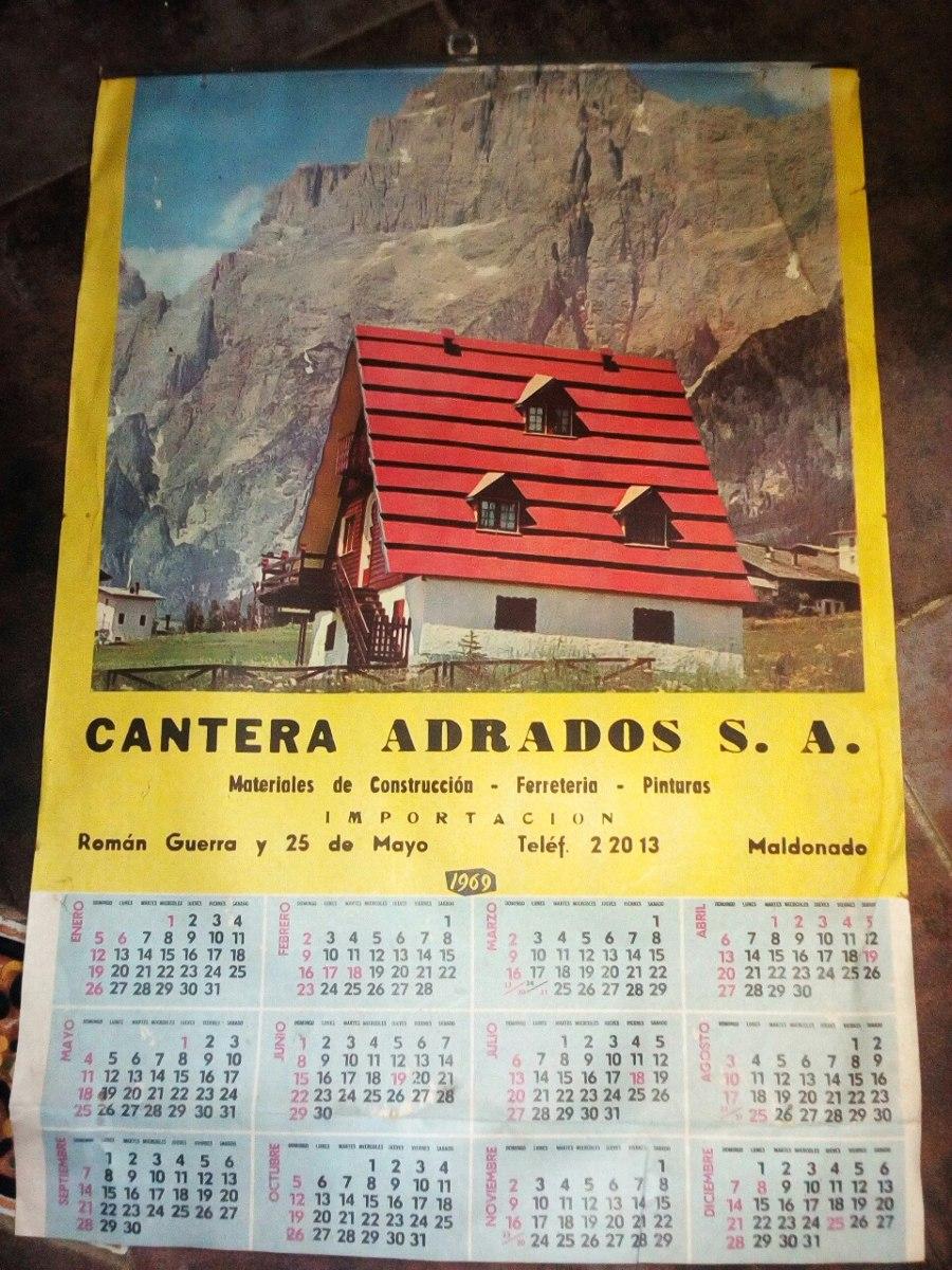 Calendario Del Ano 1969.Antiguo Almanaque Calendario Ano 1969 300 00
