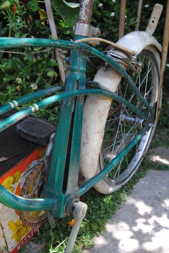 antiguo bicicleta graziela cross vintage vieja verde