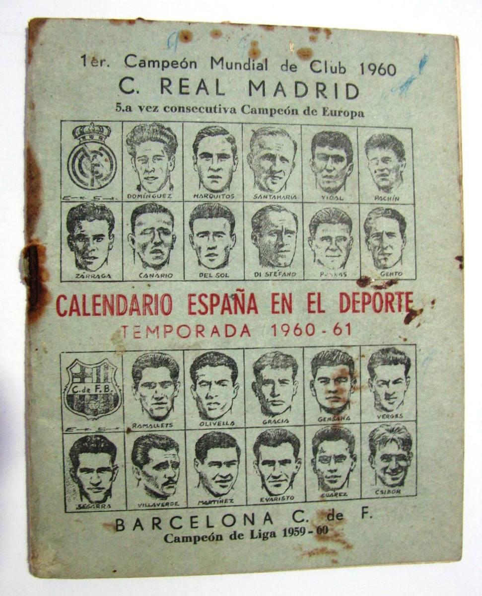 Calendario 1960.Antiguo Calendario Espana Uruguay Deportes Futbol 1960 1961 550 00