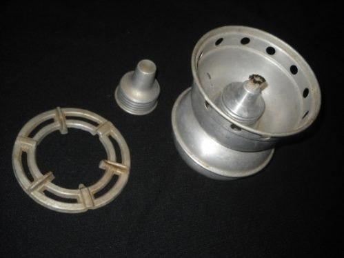 antiguo calentador en aluminio