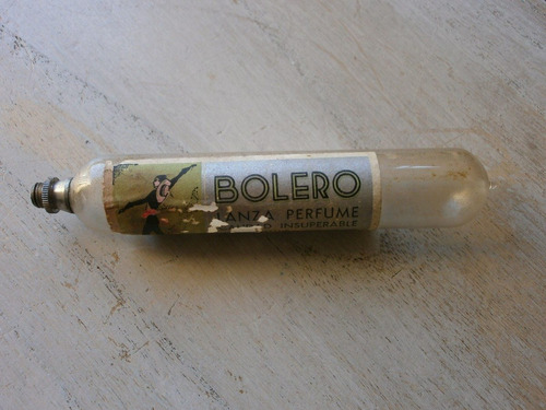 antiguo lanza perfume (carnaval) de colección. largo: 12,5cm