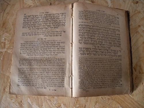 antiguo libro de oracion judio sidur tefila seder ruso 1910