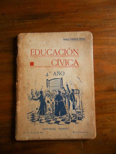 antiguo libro educacion civica 5° año a. carbonell debali