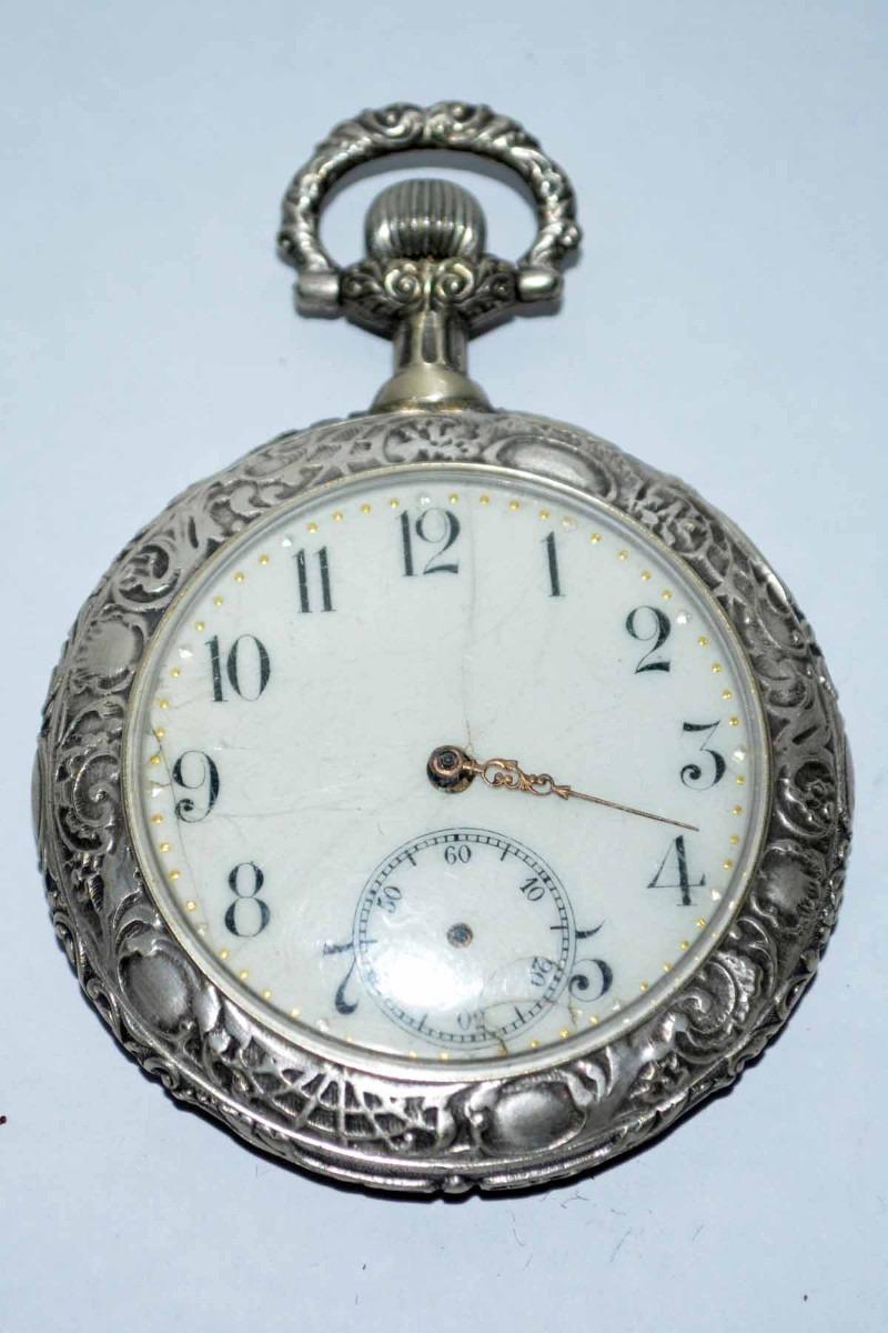 6e0fbb1b0d9c antiguo reloj de bolsillo de plata colección o reparar. Cargando zoom.