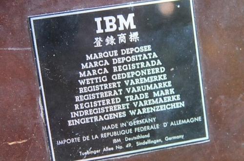 antiguo reloj tarjetero ibm funcionando vintage viejo